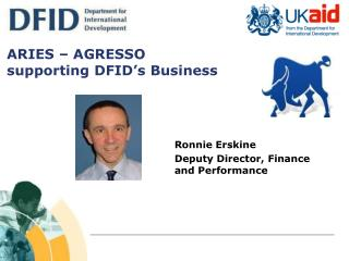 ARIES – AGRESSO  supporting DFID's Business