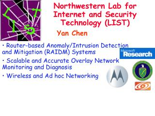 Northwestern Lab for Internet and Security Technology (LIST)