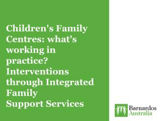 Auburn Children�s Family Centre