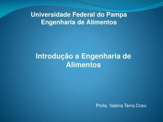 Universidade Federal do Pampa  Engenharia de Alimentos