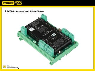 PAC500 - Access and Alarm Server