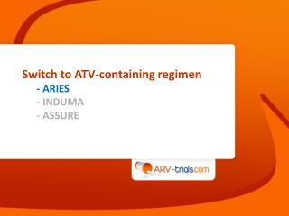 Switch to ATV-containing regimen - ARIES - INDUMA - ASSURE