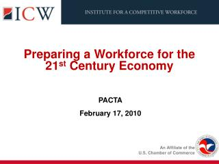 Preparing a Workforce for the  21 st  Century Economy