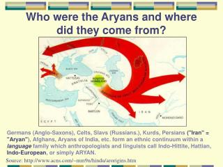 Who were the Aryans and where did they come from?