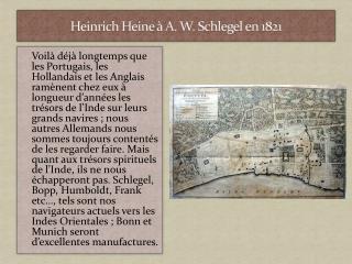 Heinrich Heine � A. W. Schlegel en 1821