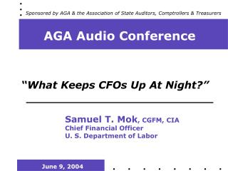 AGA Audio Conference