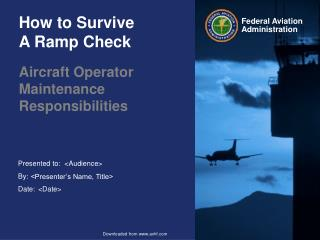 How to Survive  A Ramp Check