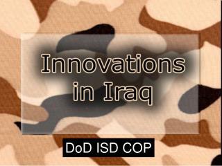 DoD ISD COP
