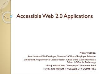 Accessible Web 2.0 Applications