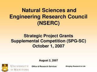 What are Strategic Project Grants (SPG-SC)?