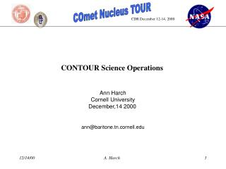 CONTOUR Science Operations