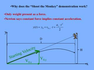 """Why does the """"Shoot the Monkey"""" demonstration work?"""