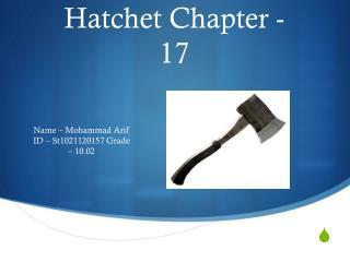 Hatchet Chapter - 17