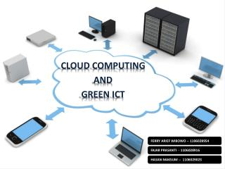 CLOUD COMPUTING  AND  GREEN ICT