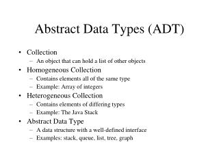 Abstract Data Types (ADT)