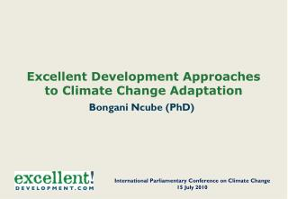 Excellent Development Approaches to Climate Change Adaptation