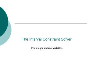 The Interval Constraint Solver
