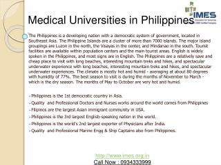 Medical Universities in Philippines