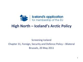 High North � Iceland�s Arctic Policy