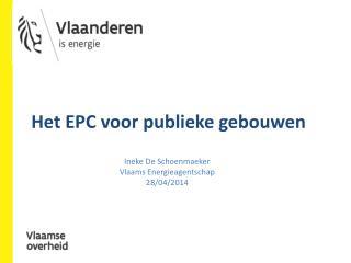 Het EPC voor publieke gebouwen