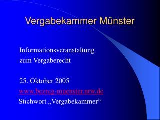 Vergabekammer Münster