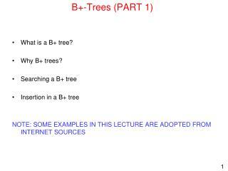 B+-Trees (PART 1)