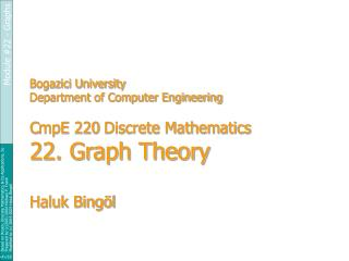 Module #22: Graph Theory