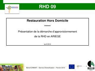 Restauration Hors Domicile ***** Présentation de la démarche d'approvisionnement