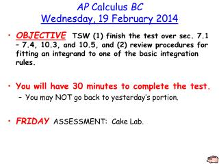AP  Calculus  BC Wednesday, 19 February 2014