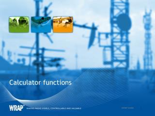 Calculator functions
