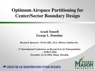 Optimum Airspace Partitioning for Center/Sector Boundary Design