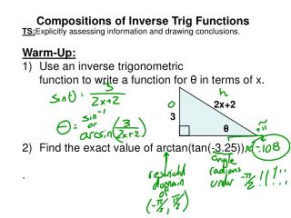 Compositions of Inverse Trig Functions