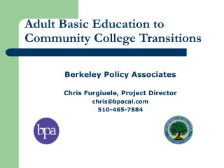 Adult Basic Education to Community College Transitions