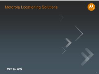 Motorola Locationing Solutions