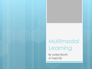 Multimodal Learning