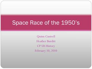 Space Race of the 1950's