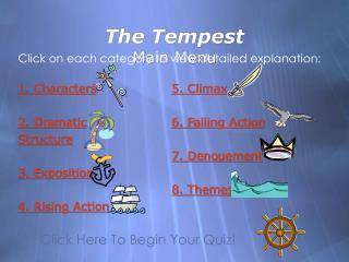 The Tempest Main Menu