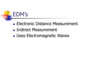 EDM�s