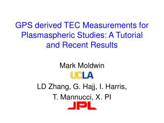 GPS derived TEC Measurements for Plasmaspheric Studies: A Tutorial and Recent Results
