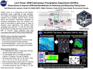 Let It Snow: GPM Cold-season Precipitation Experiment ( GCPEx )