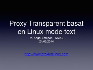 Proxy Transparent basat en Linux mode text