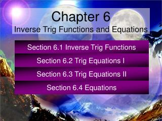 Section 6.1 Inverse Trig Functions
