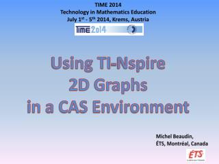 Using TI- Nspire 2D Graphs  in a CAS Environment