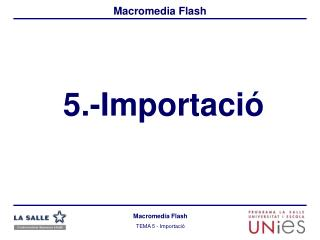 5.-Importaci�