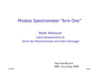"Phobos Spectrometer ""Arm One"""