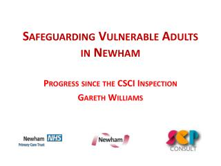 SAFEGUARDING VULNERABLE ADULTS IN NEWHAM