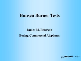 Bunsen Burner Tests