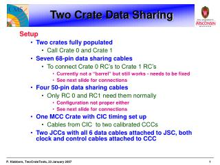 Two Crate Data Sharing