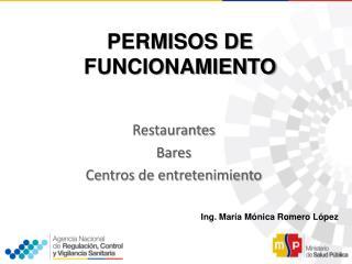 PERMISOS DE FUNCIONAMIENTO