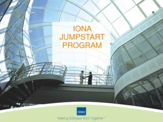 IONA JUMPSTART PROGRAM